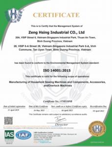ISO 14001-2015 (ZHV 20190411~20220410) EN