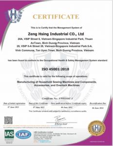 ISO 45001-2018 (ZHV 20210607~20240606) EN